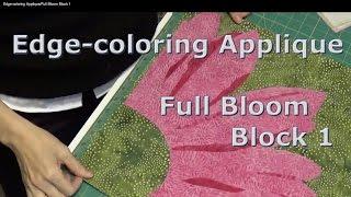 Edge-coloring Applique/Full Bloom Block 1