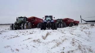 ми-2 на зимней уборке кукурузы