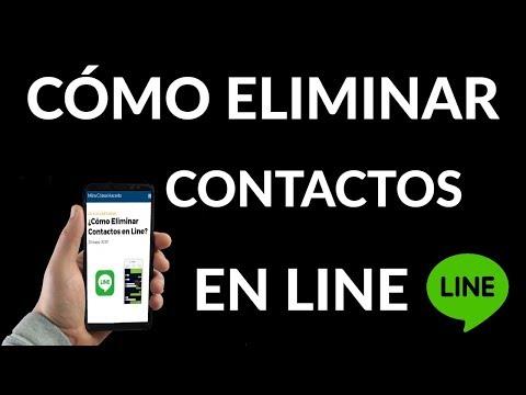 ¿Cómo Eliminar Contactos en Line?