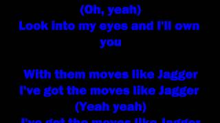 Maroon 5 Feat. Christina Aguilera - Moves Like Jagger (CLEAN VERSION) - Lyrics On Screen