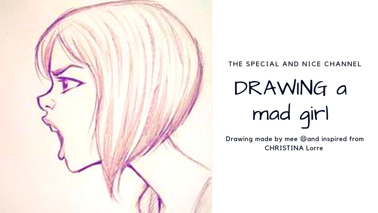 Girl Fights |Mad Girl Face Drawing