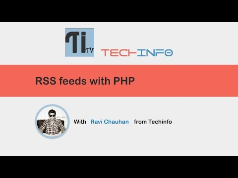 RSS feeds with PHP