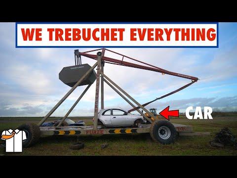 HUGE Trebuchet/Catapult Tested to Destruction