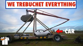 HUGE Trebuchet/Catapult Tested to Destruction