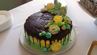 Очень Вкусный торт Крещатый Яр. Бисквитный торт с Безе и орехами