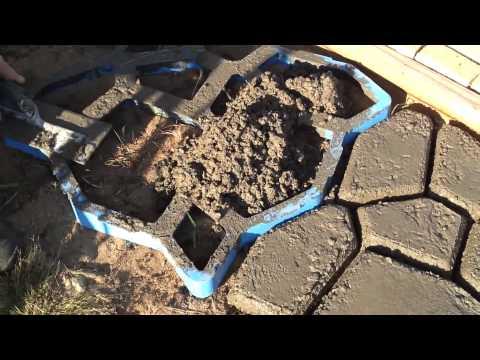 Stampi forma cemento per giardino facile ed economico by for Casa a forma di u con cortile
