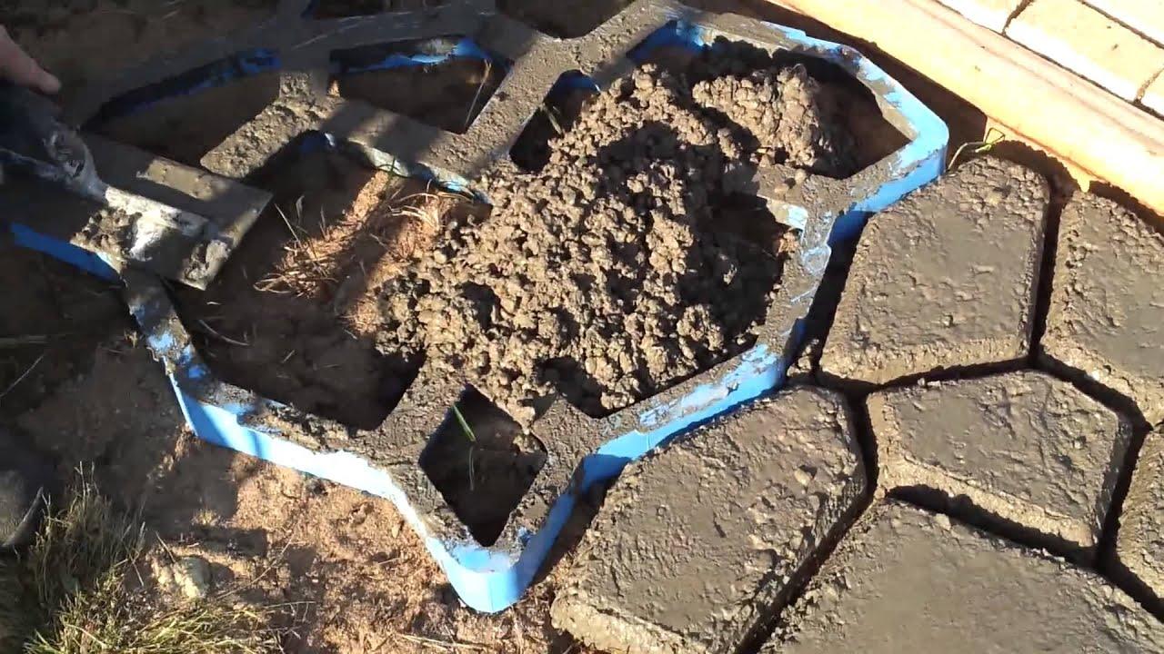 Stampi forma cemento per giardino facile ed economico by