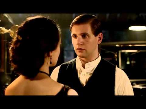Downton Abbey 2x07-Sybil and Branson Kiss