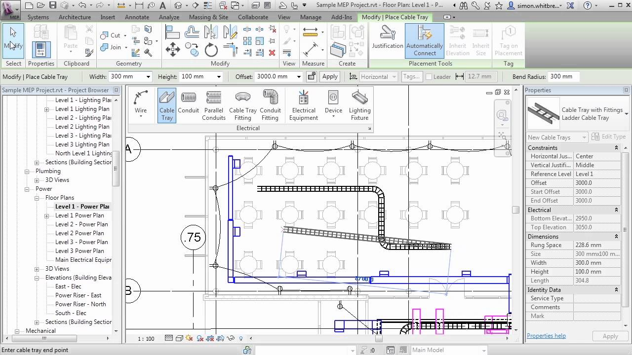 Revit Mep 2013 Tutorial Systems Tab Electrical Youtube
