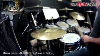 acdc   highway to hell drum cover