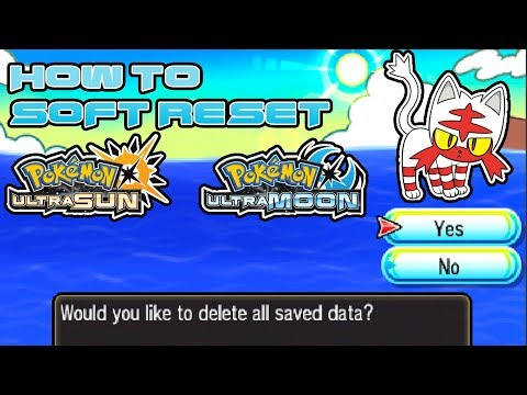 How To Reset Your Save File On Pokemon Ultra Sun And Moon To Get A Shiny Starter!