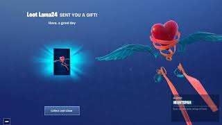 Fortnite Daily item shop February 14th - Free Glider/ Valentines skins/ overtime challenges