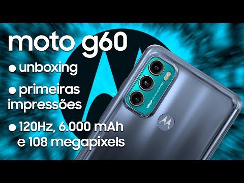 Moto G60, tela 120Hz, 6.000 mAh e 108 megapixels! Unboxing, Primeiras Impressões e Lojas Conceito