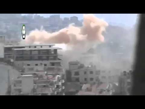 Syria #1 Dictator Assad Tries to Destroy Zabadani City With Heavy Artillery 5-Nov-13 Damascus