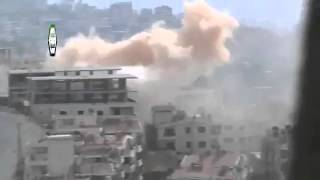 Syria #1 Dictator Assad Tries to Destroy Zabadani City With Heavy Artillery 5-Nov-13 Damascus