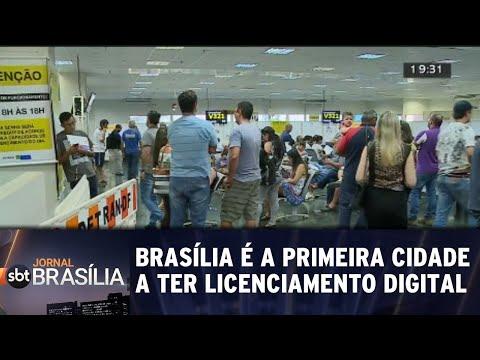 Brasília é a primeira cidade a ter licenciamento digital | Jornal do SBT Brasília 28/08/2018