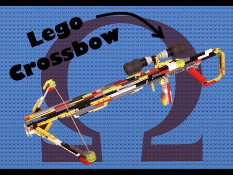 how to make a simple lego crossbow that shoots