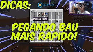 PEGUE O BAU MAIS RAPIDO - Minecraft Skywars na Redesky