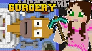 Minecraft: SURGERY ON HOMER SIMPSON - SURGEON SIMULATOR - Mini-Game [2]