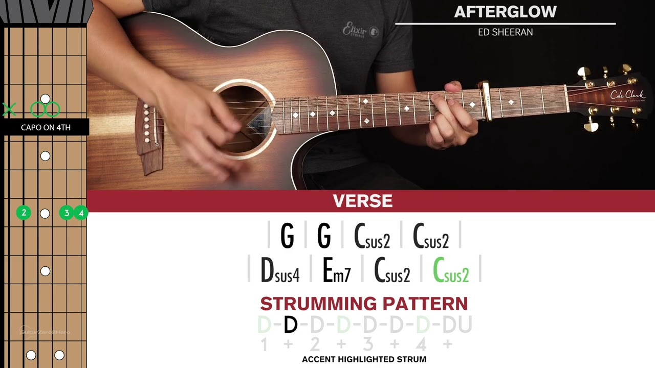 Afterglow Guitar Cover Ed Sheeran 🎸 Tabs + Chords