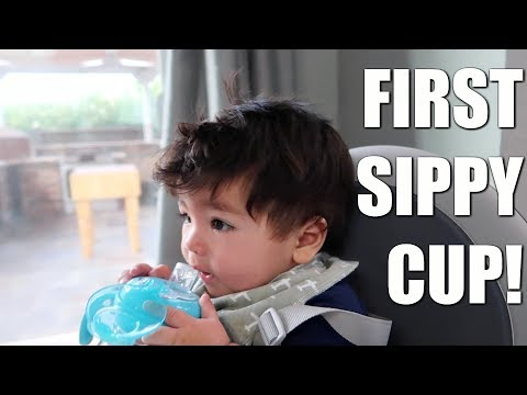 FIRST SIPPY CUP!