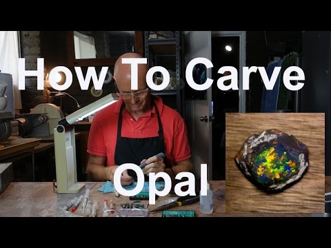 How To Carve Or Dremel Polish Opal. Tips and tricks