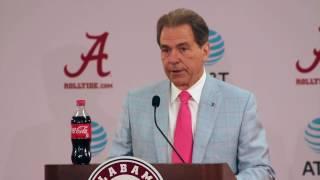 Nick Saban discusses 2017 Alabama signing class