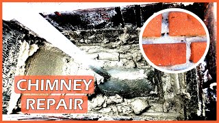 Naprawa komina z cegły - Brick chimney repair
