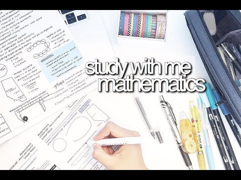 Study With Me: Mathematics || revisign