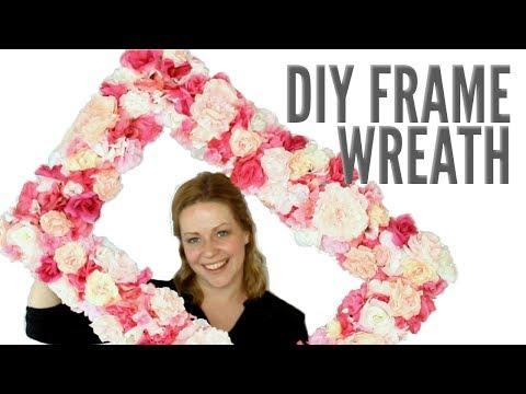 Faux Floral Frame Wreath | Elegant DIY Decor or Photo Prop!
