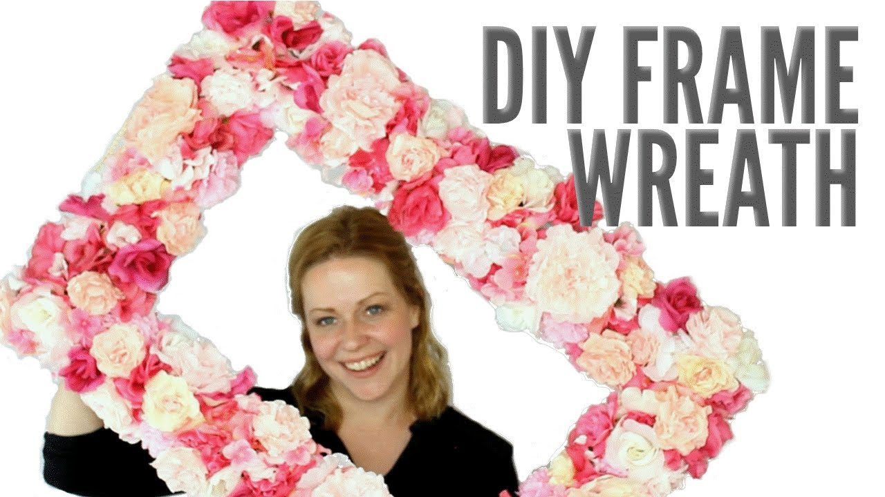 Faux Floral Frame Wreath | Elegant DIY Decor or Photo Prop! - YouTube