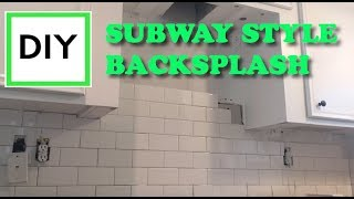 Beginners DIY: how to install subway tile backsplash in a kitchen.