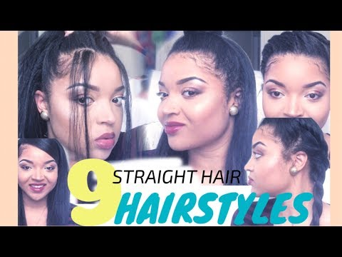 9 QUICK & EASY STRAIGHT HAIRSTYLES FOR LONG HAIR