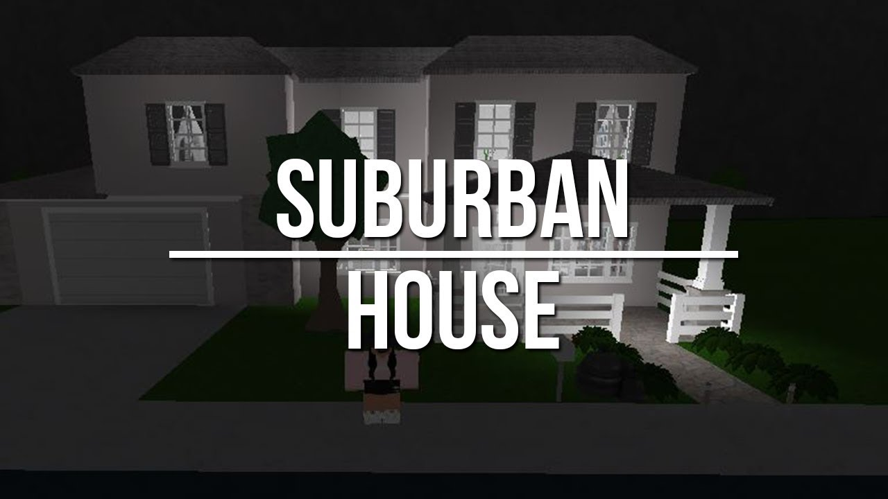 Roblox Welcome To Bloxburg Suburban House 35k Youtube