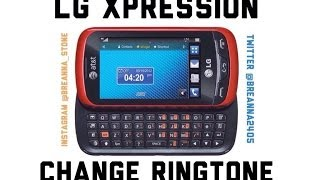How to change ringtone on LG Xpression 2