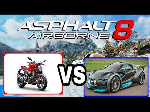 Ducati Vs รถ Super Car และ รถท วๆไป Asphalt 8 Youtube