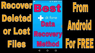 {Hindi} How to Recover Deleted Files From Android Phone For FREE