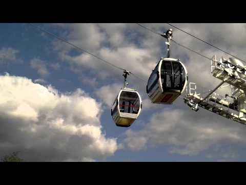 The new Emirates cable car in East London - South side