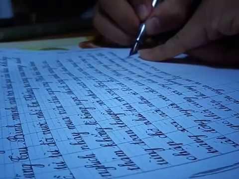 Tự luyện viết chữ đẹp tại nhà