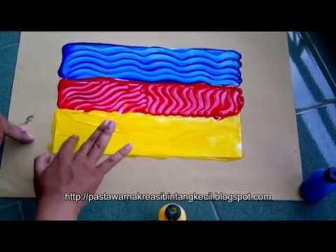 Finger Painting Latihan Blocking Gambar Youtube
