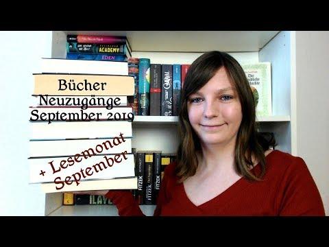 Bücher Neuzugänge und Lesemonat September 2019