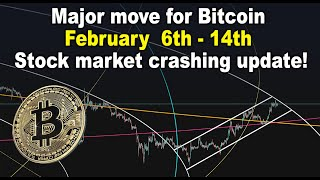 Major move for Bitcoin Feb 6th - 14th  - BTC price targets - Stock market crashing update! TA