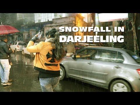 Snowfall in Darjeeling 28 December 2018