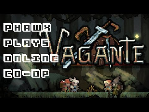 Phawx Plays Vagante - Co-Op Action RPG Spelunky - Quick Look / Let's Play