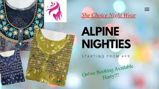 Daily Wear Alpine Nighties starting from Rs 499