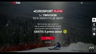 Promo  gratis 12 mesi Eurosport Player clienti  Timvision