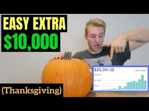 How To Make An EXTRA $10,000 On Shopify Because Of Thanksgiving (FREE & EASY)
