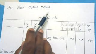 الشراكة المحاسبة [إعداد العاصمة A/C] :-قبل kauserwise