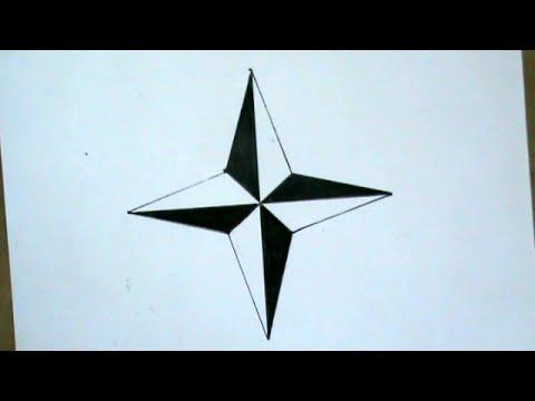 How To Draw Ninja Star Very Simple