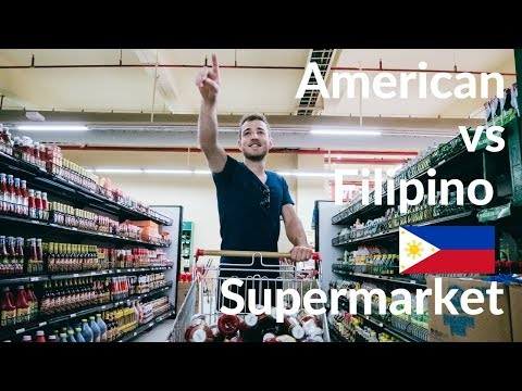 American Vs FILIPINO SUPERMARKET - Different?!